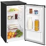 Exquisit Kühlschrank KS 85-9 RVA+ Inox/Kühlen 82 Liter/Breite 45 cm/Türanschlag wechselbar/Inox-schwarz
