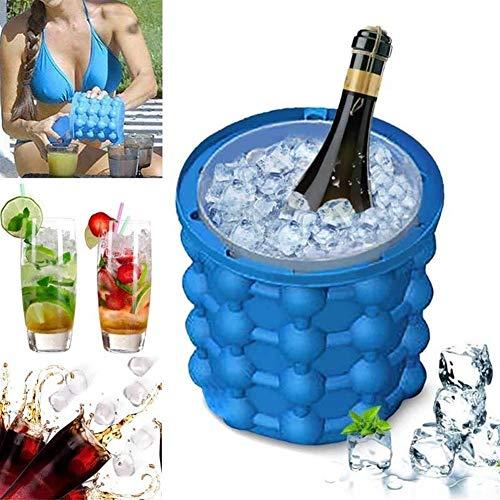 Cubitera de hielo de whiskey de gel 120 celosía de silicona cubo de hielo Ice Wine Cooler Cube Maker cerveza gabinete ahorro de espacio (color: 3)