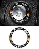 エンジンスタートストップイグニッションキーリングリングステッカー炭素繊維トリムインテリア、n色 (Have color)