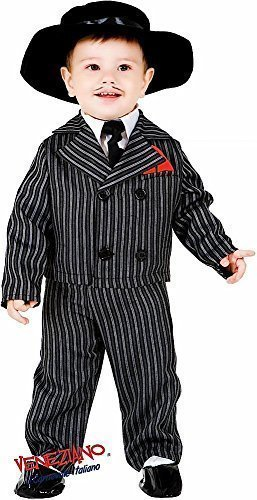 Italian Made Deluxe 5 Piece Baby & Older Boys 1920s Gangster Suit Fancy Dress Costume Outfit 0-12 Years (1 Year)