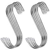 confezione da 15 inox ganci magnetici a forma di s, salvaspazio, in acciaio per ufficio cucina bagno camera da letto