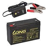 AGM BLEI AKKU Batterie 6V 12Ah kompatibel für Kinderfahrzeuge Kinderauto Kinder-Quad BLEIGEL Gel + LADEGERÄT