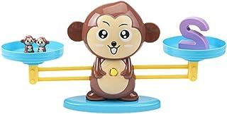 NUOBESTY Jogo de Matemática de Equilíbrio de Macaco Jogo de Aprendizagem de Número de Macaco Contagem de Brinquedos Escala...