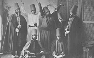 Constantinople Turkey Sufi Whirling Derviches Real Photo Postcard JI658592