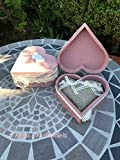 Cofanetto fedi portafedi in legno Promessa di Matrimonio Bouquet da Sposa Shabby interamente decorato a mano impreziosito con pizzi e roselline lavorate all'uncinetto