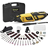 Ginour Rotary Tools Kit, 110 Accessories + 4 Attachments, Rotary tools accssories with Flex shaft in Carrying Case, 7 Variable Multi-functional rotary tools for Crafting Projects and DIY Creations