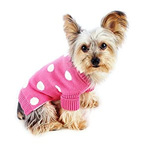 Stinky G Polka Dot Dog Sweater French Pink Size #12