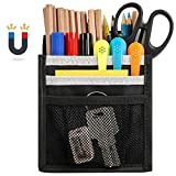 Magnetic Pencil Holder, Built-in Strong Neodymium Magnets, 3 Compartments Pen Marker Organizer, Storage Pocket for Whiteboard, Refrigerator and Locker Accessories.