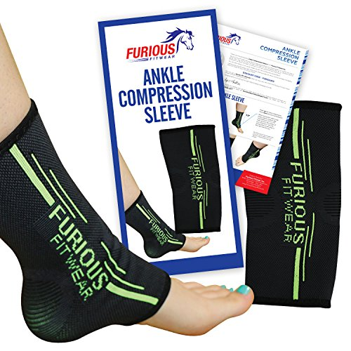 Furious Fitwear Ankle Compression Sleeve for Daily Support  Single 1 Only