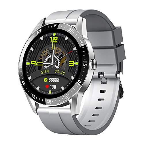 JINPXI Reloj Inteligente para Hombre Llamada Bluetooth con Pulsómetro,Podómetro,Monitor de Sueño,5 Modos de Deportes Cronómetrol,Pulsera de Actividad,Smartwatch Inteligentes Hombre para iOS y Android