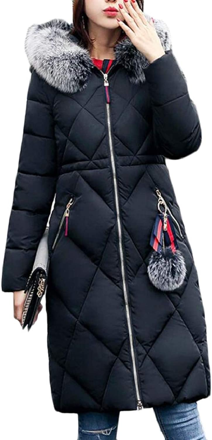 TDCACA Womens Casual Parka Padded Quilted Jacket Long Coat Outwear