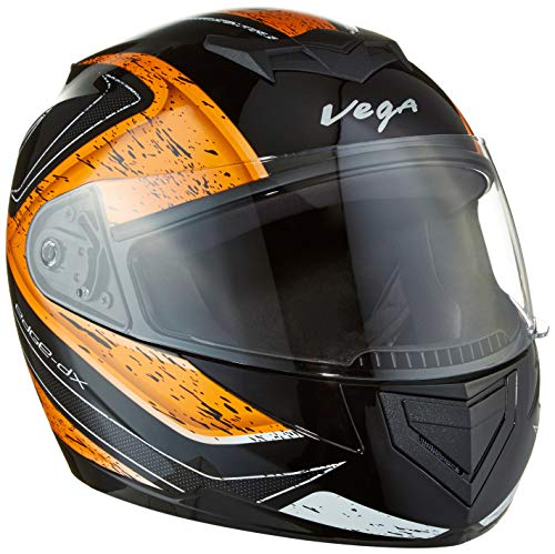 Vega Edge Dx Crystal Black Orange Helmet-M