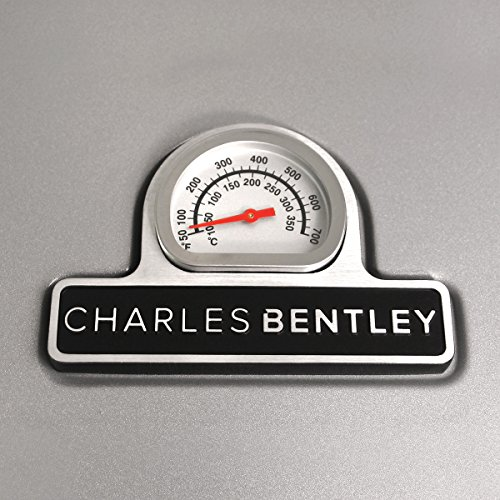 Charles Bentley 5 Burner Premium Gas BBQ - Titanium Grey