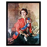 Wee Blue Coo Painting Queen Elizabeth Ii Military Regalia