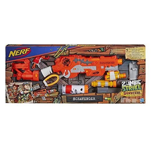Hasbro Zombie Strike Scravenger, Spielzeugblaster mit umfangreichem Zubehör