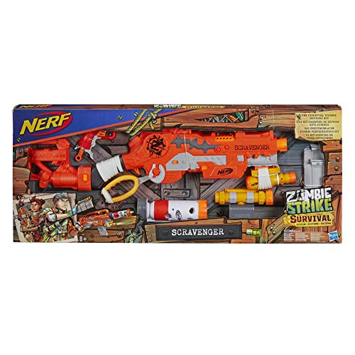 Nerf- Zombie Strike Scavenger - Sistema de Supervivencia, Multicolor (Hasbro E1754EU4)