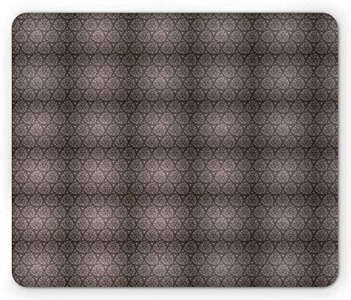 Mouse Pad Abstract Composition Of Triangles And Swirling Hand Drawn Streaks Pale Mauve Taupe Dark Mauve Dust Computer Mouse Mat Keyboard Custom Mouse Pads 25X30Cm Rubber Personali