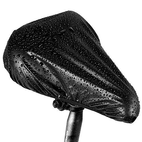 Oture サドルカバー 自転車 防水/防塵 ブラック 2枚セット 狭いシートと広いシート対応でき