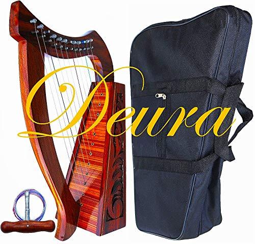 "DEURA HARP 24"" CELTIC 12 STRINGS BABY LAP HARP with BAG"