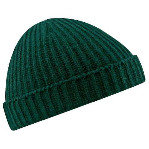 Beechfield Unisex Retro Trawler Winter Beanie Hat Baseballkappe, Green (Bottle Green 000), One Size