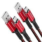 NIMASO Cable USB Tipo C[2-Pack 2M], Cargador Tipo C Carga Rápida y Sincronización USB C Cable para Samsung S10 S9 S8,Note9/8,LG G5 G6 V20,HTC 10 U11, Huawei Honor P20 Lite P10 P9, Mate9 10