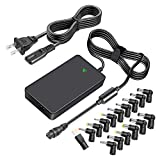 Outtag 90W Universal Laptop Charger 15V to 20V AC Adapter for HP Dell Acer Asus Toshiba Lenovo Samsung Sony Fujitsu IBM Chromebook Ultrabook Power Supply Replacement, Ultra-Slim, w/5V USB Port