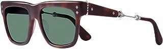 Chrome Hearts - Punkass II - Sunglasses (Matte Butterscotch Tortoise, Dark Green G15)