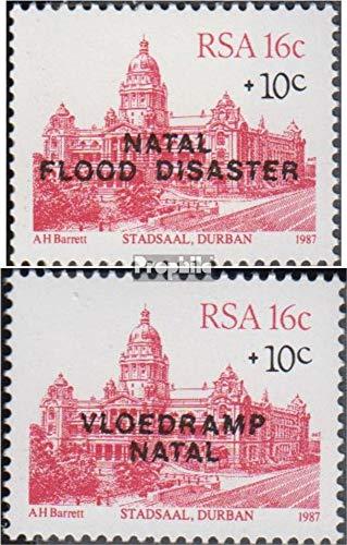 Prophila Collection Sud Africa 714-715 (Completa Edizione) 1987 Flutkatastrophe in Natal (Francobolli per i Collezionisti)