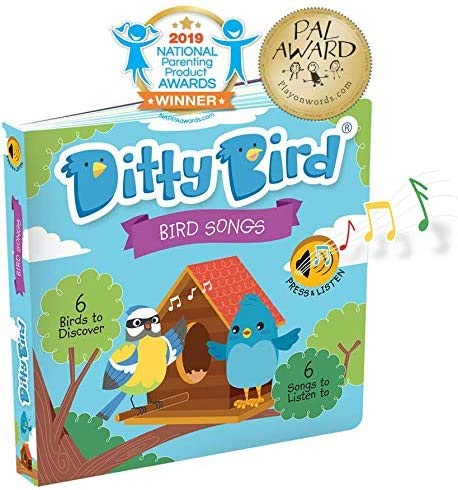 DITTY BIRD Baby Sound Books: Our Bird Songs Musical Book for Babies is The Perfect Toys for 1 Year Old boy and 1 Year Old Girl Gifts. Interactive Educational Infant Toys. Award-Winning!