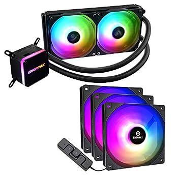 Enermax Liqmax III 240 Addressable RGB AIO CPU Liquid Cooler + HF120 RGB PWM Fans 3-Pack  Bundle