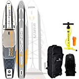 SKINFOX Marlin Grand Touring Carbon-Set (420x76x15) 4-TECH L-CORE SUP Paddelboard - Farbe: Weiss - Groesse: Board, Bag, Pumpe