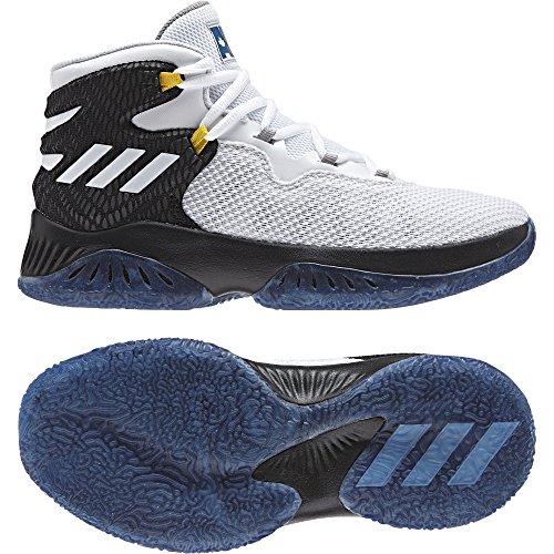 adidas Explosive Bounce J, Zapatillas de Deporte Unisex Adulto, Negro (Negro-(Negbas/FTWBLA/AZUCAP), 38 2/3 EU