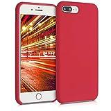 kwmobile Carcasa Compatible con Apple iPhone 7 Plus / 8 Plus - Funda de Silicona para móvil - Cover Trasero en Rojo Persa