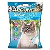 Arquivet Arena para Gato Silica Crystal Pack 2 Unidades de 17.8 L, lecho higiénico para Gatos, felinos, Capacidad Absorbente, Ayuda a Eliminar olores y bacterias