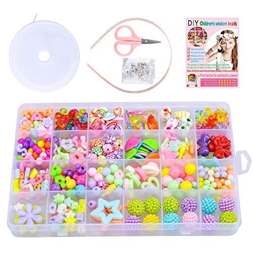 SUNNYPIG Kits de Cuentas para Hacer Joyas Cuentas artesanales para niños Niñas cumpleaños …