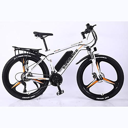 BWJL 26-Zoll-Aluminium-Legierung, die Lithium-Batterie unterstützt mit Variabler Geschwindigkeit Fahrrad, Erwachsene Leistung Elektro-Fahrrad unterstützt, 36V 350W 13Ah austauschbaren Lithium-.