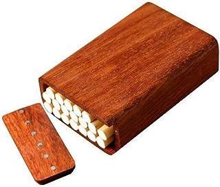 LONGWDS Caja de cigarro Caso de Cigarrillos, 20 Palos de Madera de Palo de Rosa 10 de Cigarrillos Casos