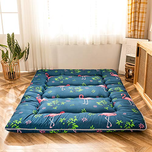 Flamingo Japanese Floor Mattress Futon Mattress Boys Girls Memory Foam Foldable Bed Camping Mattress...