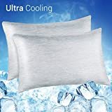LUXEAR Cooling Pillowcase, Revolutionary Cool-to-Touch Technology, 2 Pack - Queen Size (20x30 inches)
