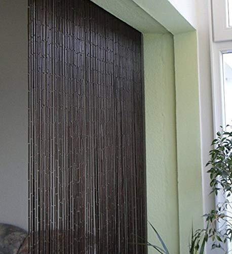 Leguana Handels GmbH, tenda decorativa per porta, modello Saigon Classic, 90 fili, 90 x 200 cm, con barra per appenderla.
