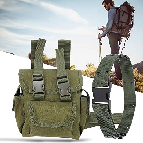 Nicoone Bolsa de muslo al aire libre, bolsa militar de nailon para muslo, bolsa de hombro, paquete de cadera para ciclismo, senderismo, camping