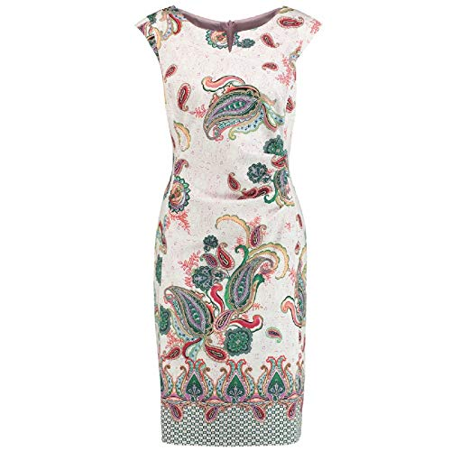 Damen KLEID Lila/Pink/Grün, Größe:38, Farbe:03058 LILA/PINK/GRUE
