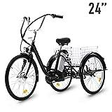 HIRAM Adult Electric Tricycle, 24 Inch 250W Electric Bike 3 Wheel...