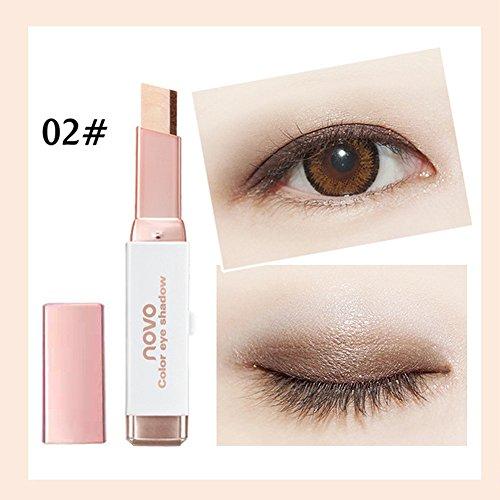 Lidschatten Glitter Double Farben Long Lasting Wasserdicht Eyeshadow Stick Eyeshadow Makeup Pen (2...