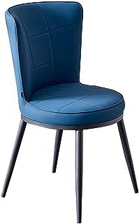 Sillas Comedor, Acolchadas Modernos Comedor, Cocina Volver Taburete, Hierro Forjado, Hotel Restaurante Salón, (Color : Blue, Size : 40 * 41 * 80cm)
