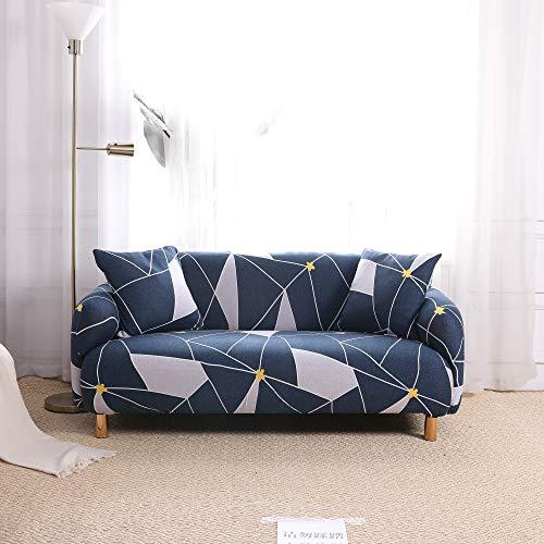 SDINAZ Fundas de sofá 1 Plaza Elasticas Ajustables Impresión Protector de sofá