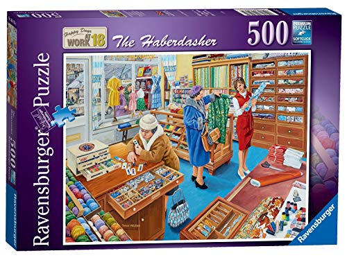 Ravensburger 16413 Happy Days at Work No.18-The Haberdasher 500 Piece Jigsaw Puzzle for Adults & for Kids Age 10 and Up