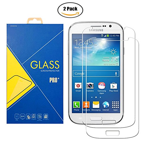 [2 Pack] Protector Cristal Vidrio Templado Samsung Galaxy Grand Neo / Grand Neo Plus ( GT-I9060 / I9060i / 9060 / I9080 / I9080i / 9080 ) – Pantalla Antigolpes y Resistente al Rayado