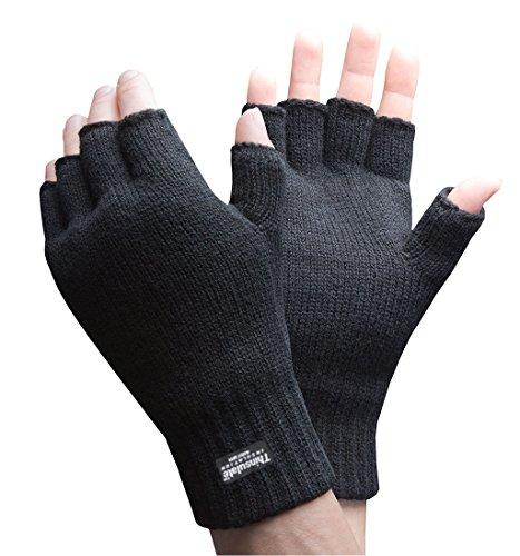 FLOSO Guantes Thinsulate t/érmicos sin dedos para hombre