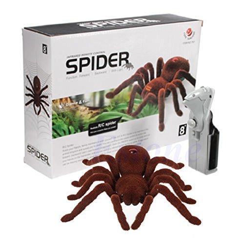 siwetg - Tarántula de Juguete con Control Remoto para niños, diseño de araña, de Felpa Suave, con Infrarrojos
